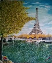 Les bords de Seine en automne. Bruno D'allongeville