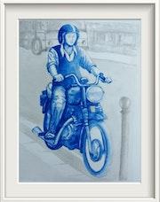 Motero vintage. Jorge Garcia