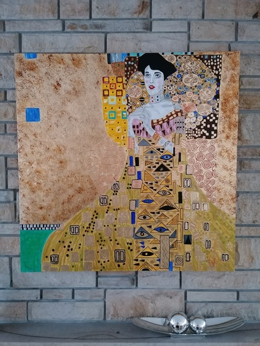 Madame en or d'après un modèle de Gustav Klimt (Adele-Bloch-Bauer). Wolfgang Bröder