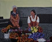 Ventes de fleurs dans la capitale, Funchal, Madère.
