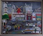 Moulin Rouge, Pigalle sous la pluie. Bruno D'allongeville