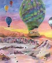Les montgolfières de Louxor. Dominique Mansour