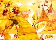Titel Dschungel, Poster aus dem Jahr 2009, digitale Malerei.
