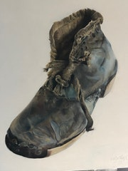 Orphan shoe from France.
