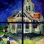 L'Eglise d'Auvers de van googh. T. Me. S