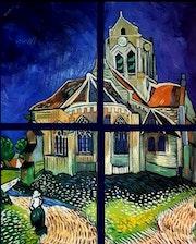 L'Eglise d'Auvers de van googh.