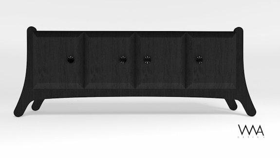 Commode black wood. Alejandroesp Wwa_Design Alejandro