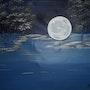 Pleine lune sur le lac. Ben