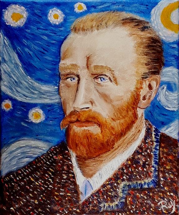 Van Gogh dans les étoiles. Pedro Bujeque Rey Rey
