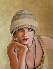 Jeune femme des années 1920.
