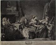 La Belle-Mère, par C. Le Vasseur d'après J. B. Greuse (1725-1805)..