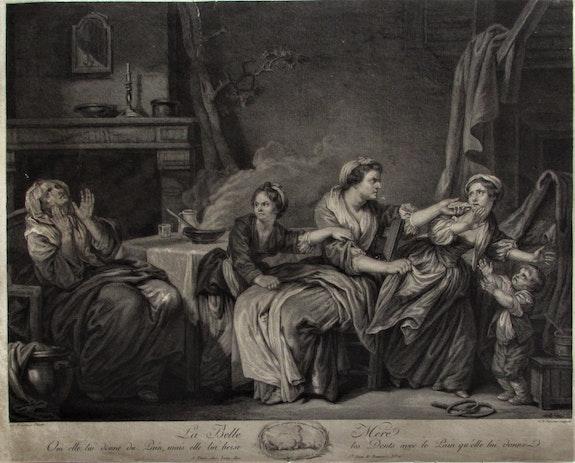 La Belle-Mère, par C. Le Vasseur d'après J. B. Greuse (1725-1805).. C. Le Vasseur d'après J. B. Greuse (1725-1805). Historien d'art, Archéologue; Chercheur Free-Lance (Er)
