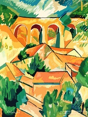 2021-04-08 Copie de Georges Braque-le viaduc à l'Estaque (1908). Michel Normand