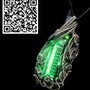 Green Sweeper Nixie Tube Steampunk/Cyberpunk Fusion led Necklace. Heather Jordan Jewelry