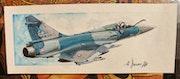 Mirage 2000-5f escadron cigognes. Forangeart F. Baldinotti Peintre De l'air