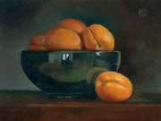 Abricots de Provence et bol / Apricots of Provence in bowl. Hellbay