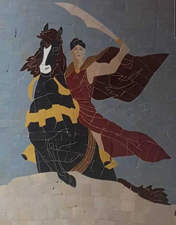 Guerrero montado a caballo. Mohamed Rimah Canam