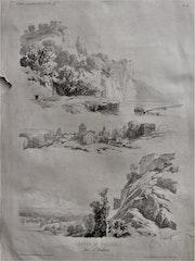 Trois «esquisses d'après nature» pour «Leçons de paysage» par A. Calame..