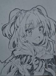 Anime girl drawing. Sinastian
