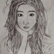 Chinese Ulzzang Girl sketch. Sinastian
