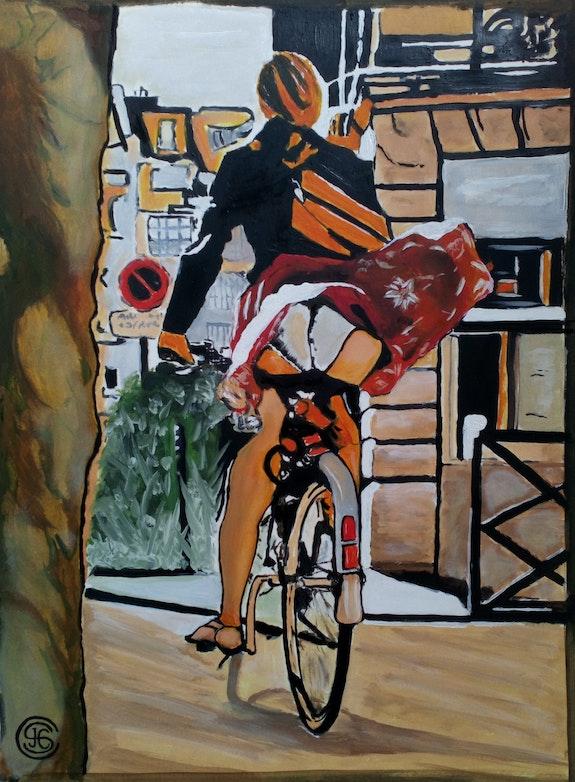 Gigi va à Dijon n° 343 08/2020. Jc Ciutad-Savary Jean Claude Ciutad-Savary. Artiste Peintre
