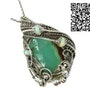 Chrysoprase Wire-Wrapped Pendant with Ethiopian Welo Opals. Heather Jordan Jewelry