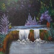 Le petit cour d'eau tranquille. Christelle Delcourt
