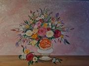 Bouquet de fleurs champêtre et romantique. Christelle Delcourt