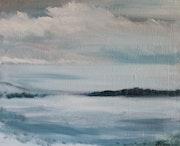 «Balade hivernale près du Lac». Marie-Jeanne Cavin