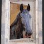 Portrait cheval. Atelier Broderie Debroas
