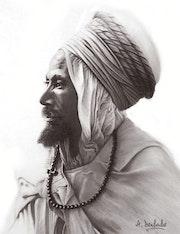 L'homme au «Guennour» coiffe traditionnel algérienne. Abderrahmane Doulache