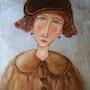 Femme au béret. Nadine Sarrazit