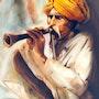 Le musicien de rue. Abderrahmane Doulache