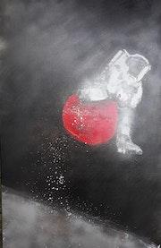 Hüpf me on the Moon. Volker Van Uffelt