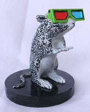 Stozland© the rat with 3d glasses.