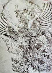 Phoenix sketch. Sinastian