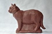 Chat bien nourri. Barake Sculptor