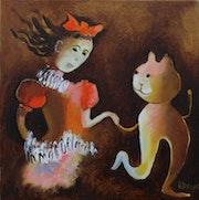 Alice et sa chatte Dina. Art'et Miss