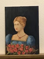 Mujer con rosas.