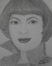 Portrait Mireille Mathieu. Baloban Nadège
