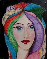 Mujer con pañuelos II. Carlos Gonzalez
