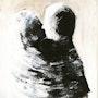 Les amants enlacé lovers entwined. Chantal Moerman
