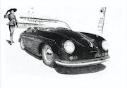 Madame et son speedster au Mans. Eric Pawlak