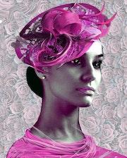 La dame au chapeau rose. Françoise Deléglise