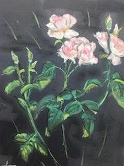 Les roses de mon jardin.