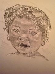 La petite fille aux nattes. Christel