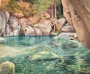 La Restonica (Corse France). Peintre
