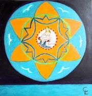 «Mandala fleur de désir» un cadeaux pour la planète,.