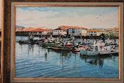 Port de St Jean de luz. M. Machin