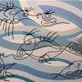 Dans ce quatrième tableau : les Fils à Fils en baignade dans leur étang. Jean-François Albert